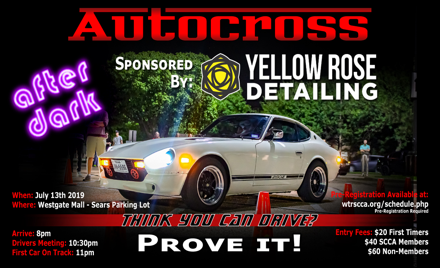 Yellow Rose Detailing Autocross Night Event