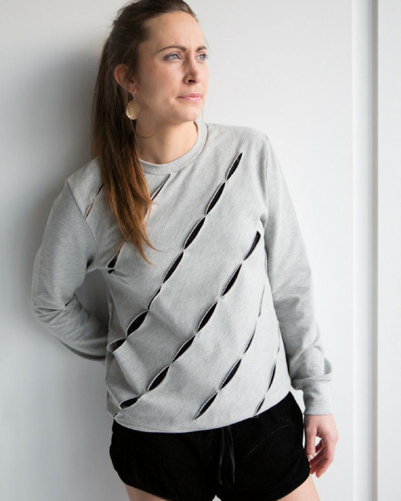 Originele sweater in grijs