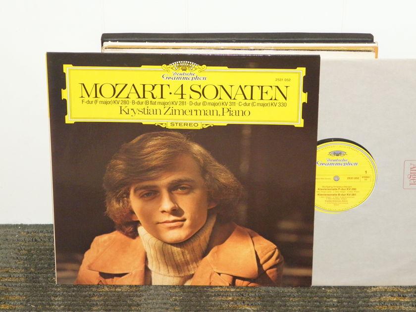 "Krystian Zimerman - Mozart ""4 Sonaten"" DG 2531 052 German Pressing"