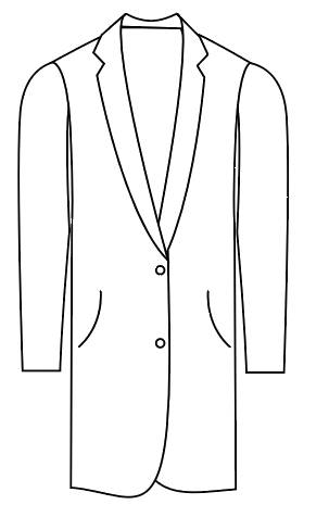Tailormate   lang jakke i klassisk look