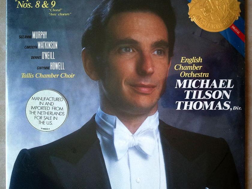 Sealed CBS Digital | TILSON THOMAS/BEETHOVEN - Symphonies Nos. 8 & 9 / 2-LP / Imported Pressing
