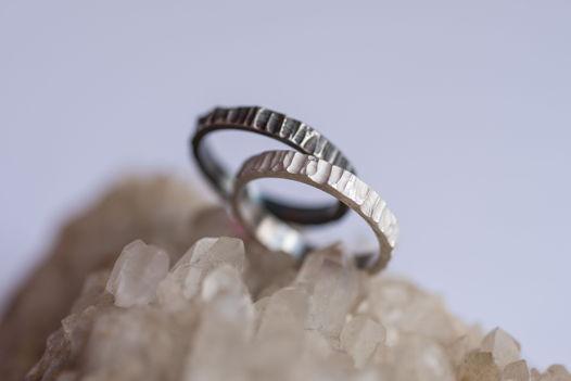 FACTURA ring (black/white)  // Фактурное кольцо из серебра