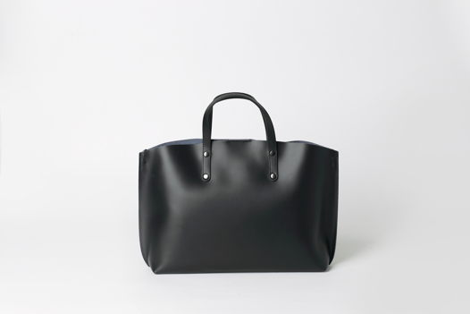 Горизонтальный TOTE в черном - NOVA - leather tote bag. Доставка 7/10 дней
