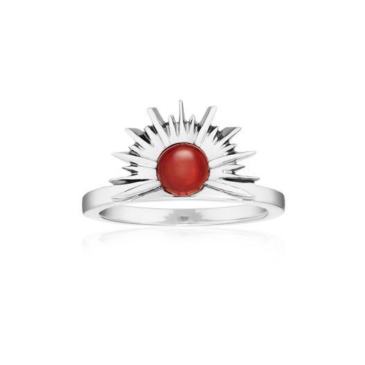 Кольцо SUNSET - Красный гранат