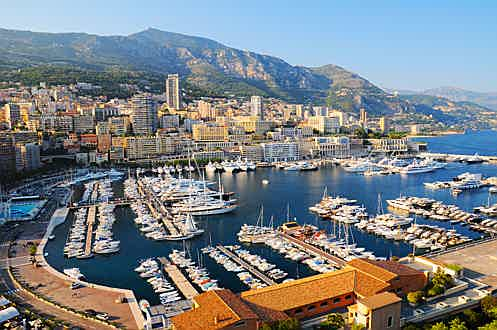 Luxembourg - View over POrt Hercules in Monaco, French Riviera