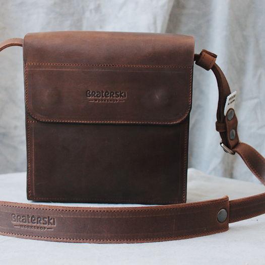 Кожаная сумка Camp Chocolate