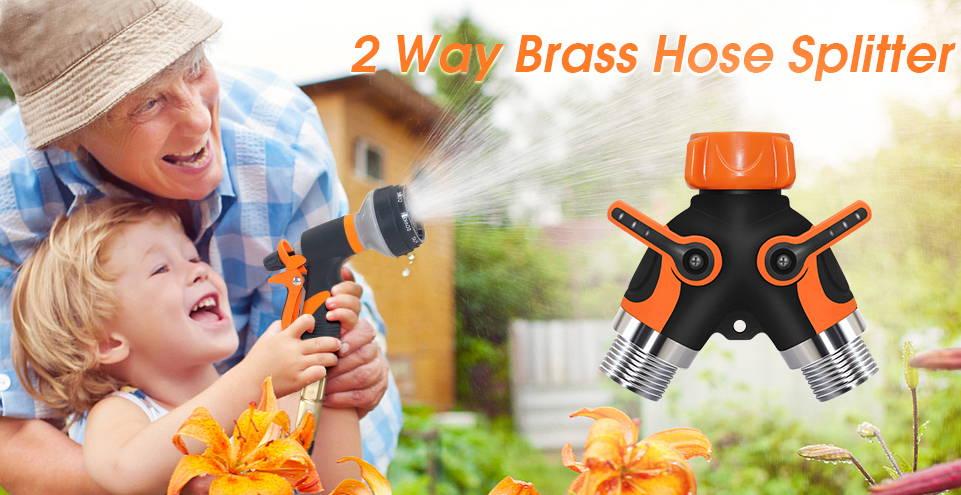 garden hose y splitter, water tap splitte,r best garden hose splitter,