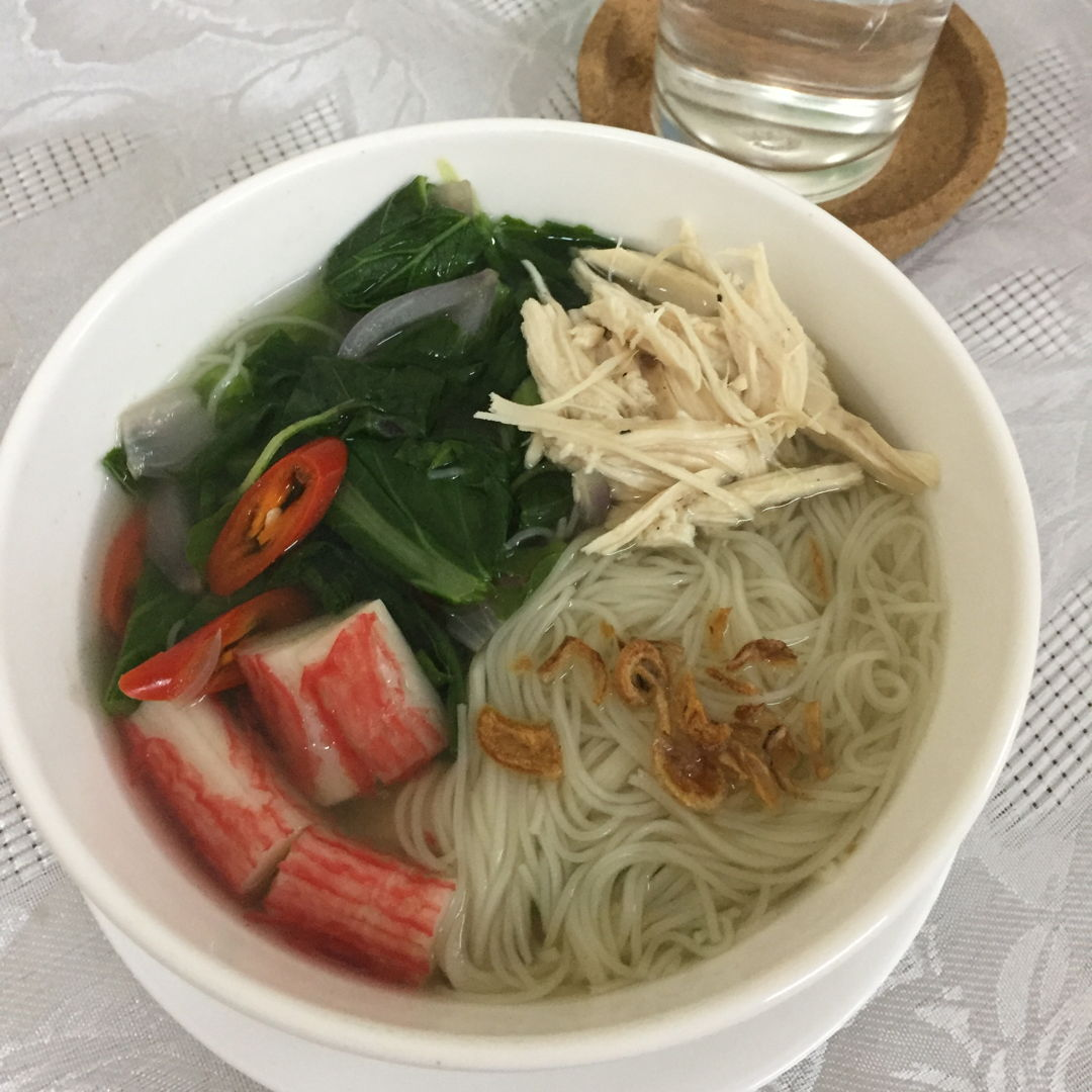 Mee suah with asian crab fillet