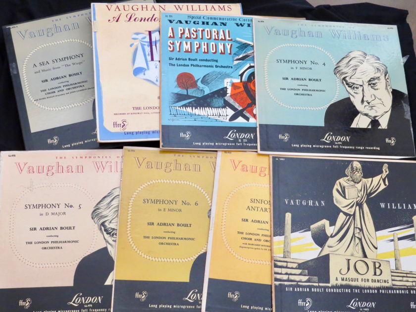 Mono Audiophile: Complete Vaughan Williams - LP Collection, 1950's, London UK Pressings!!!