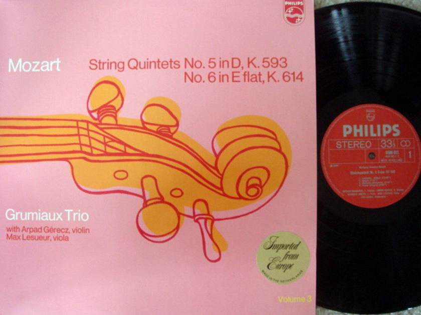 Philips / GRUMIAUX TRIO, - Mozart String Quintets No.5 & 6,  MINT!