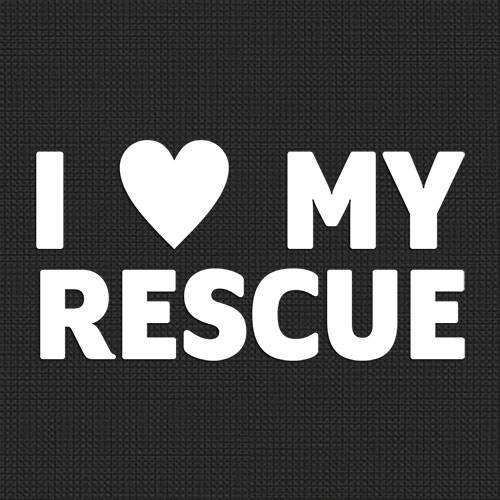 I Love My Rescue Vinyl Decal