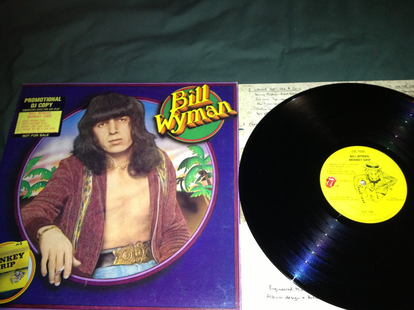 Bill Wyman - Monkey Grip LP  NM Promo