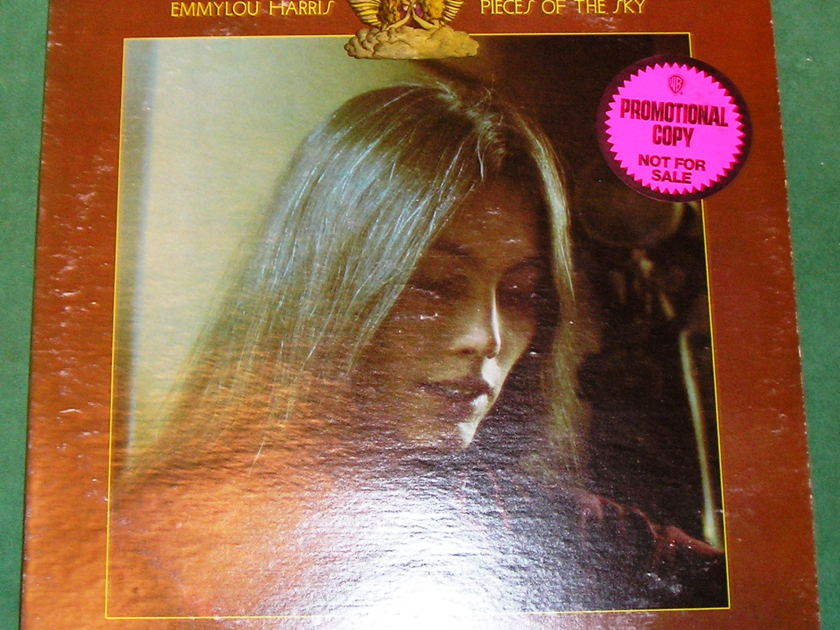 EMMYLOU HARRIS *PIECES OF THE SKY* - PROMOTIONAL COPY - NOT FOR SALE ***RARE - EXCELLENT 9/10 VINYL***