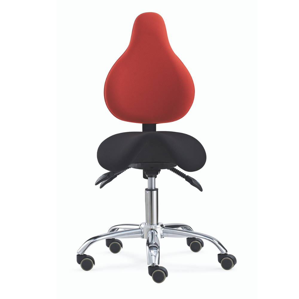 Ergonomic saddle chair seat