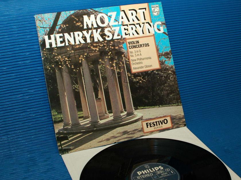 "MOZART/Szeryng - - ""Violin Concertos 1&4"" -  Philips 1970 import 1st pressing"