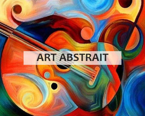 Broderie diamant collection art abstrait