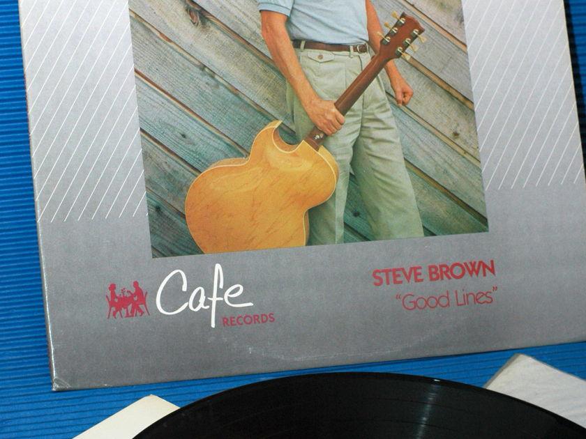"""STEVE BROWN -  - """"Good Lines"""" - Cafe/MFSL 1985"""
