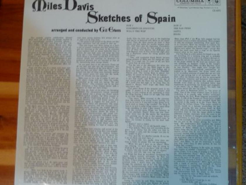 Miles Davis - Sketches of Spain Classic Records original reissue 180G 1990's Sealed