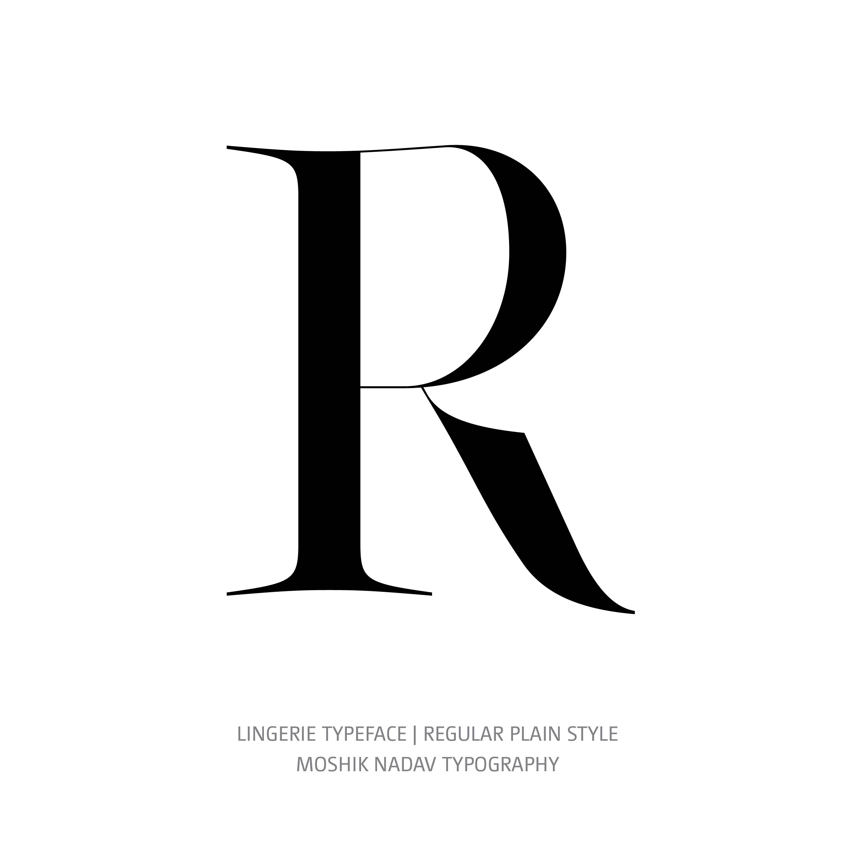 Lingerie Typeface Regular Plain R