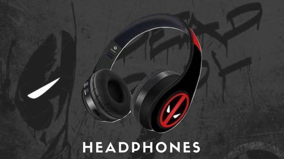 Deadpool Movie and Comic Headphones, free shipping across India