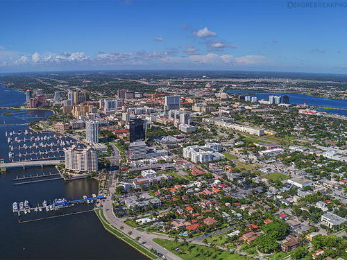 skyview of West Palm Beach