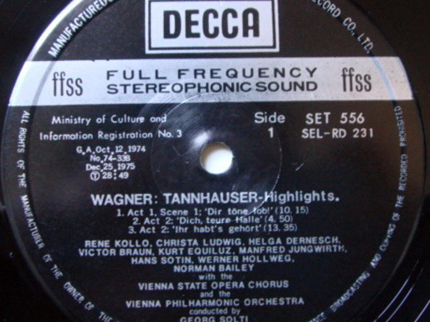 DECCA SET-NB / SOLTI, - Wagner Tannhauser Highlights NM!