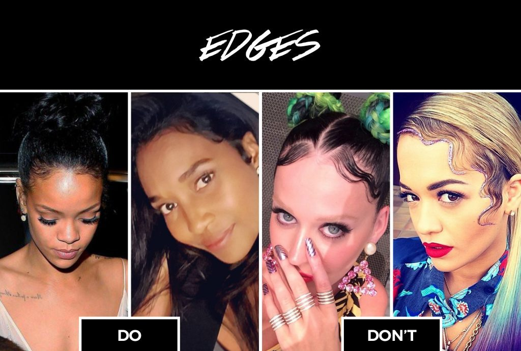crazy laid edges worst black womens hairstyles