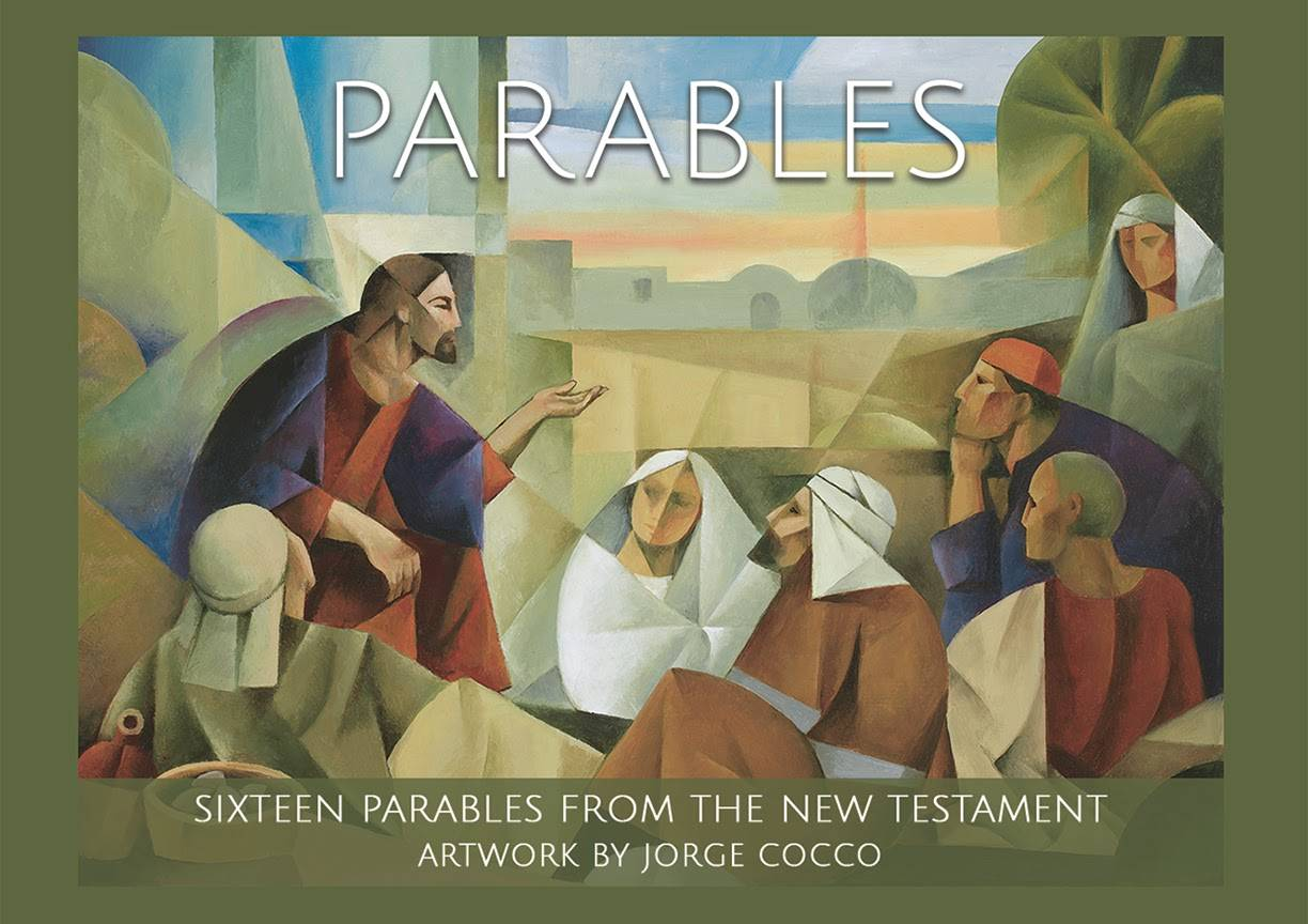 Cover of mini card pack featuring biblical art by Jorge Cocco.