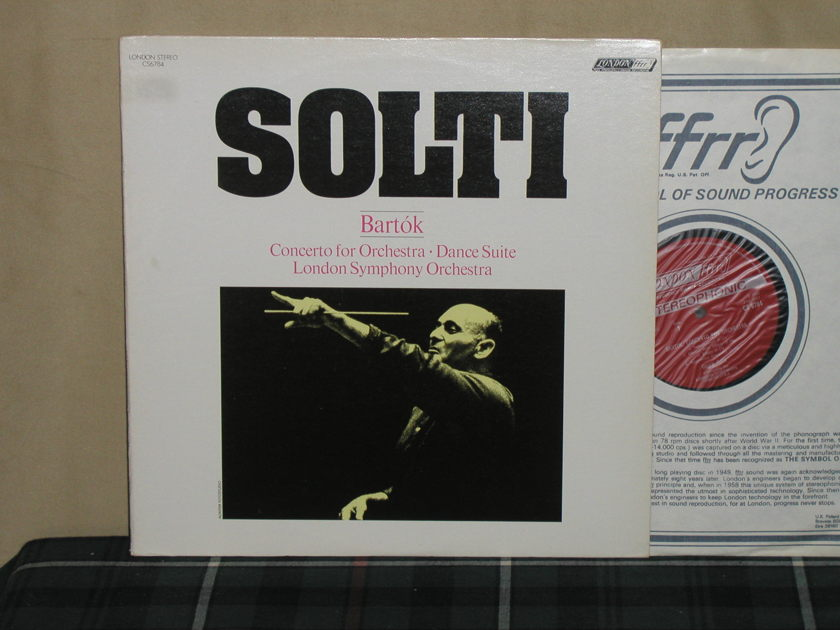 Solti/LSO - Bartok Concerto for Orchestra London CS 6784 UK press