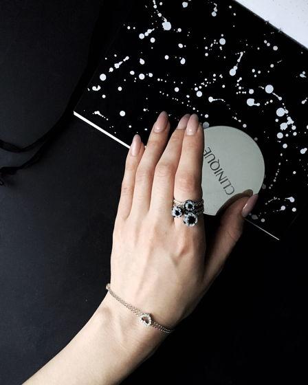 """Кольцо из серебра и муранского стекла """"Анимон"""""""