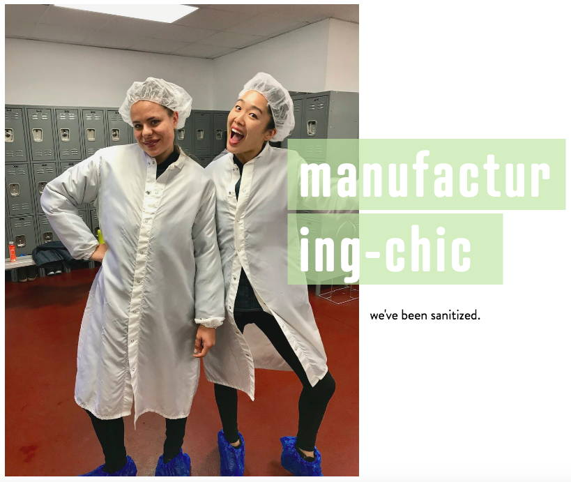 Pulp Pantry co-founders Ashley Miyasaki and Kaitlin Montegale touring Suja's Juice, all organic