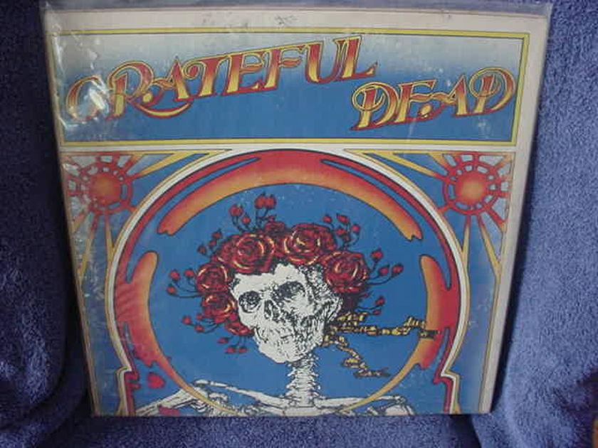 Greatful Dead 2nd Live LP w/ decal - Greatful dead / Skull w/roses  Warner Bros Green Label 2ws1935 USA 1971