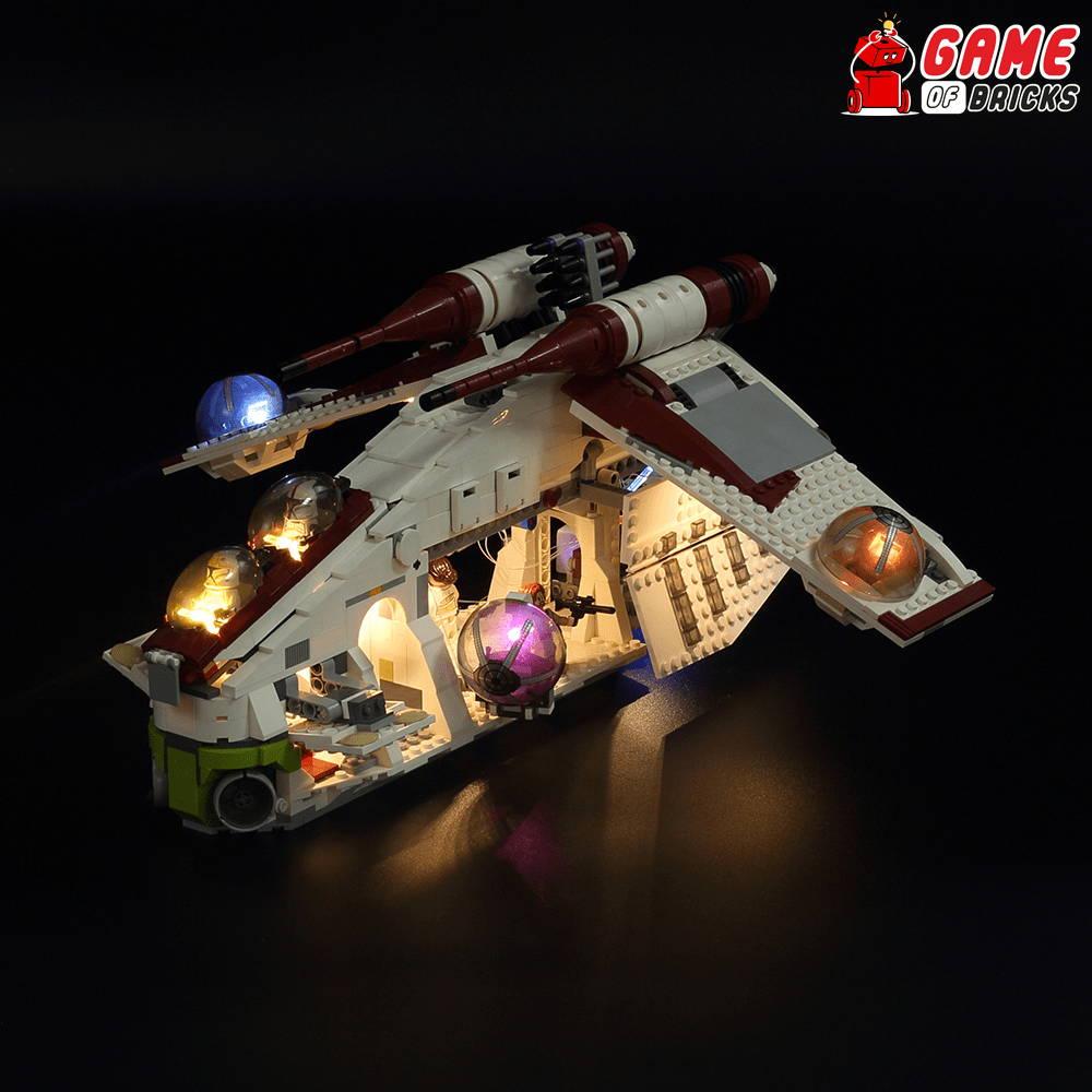 lego night light STAR WARS REPUBLIC GUNSHIP 75021