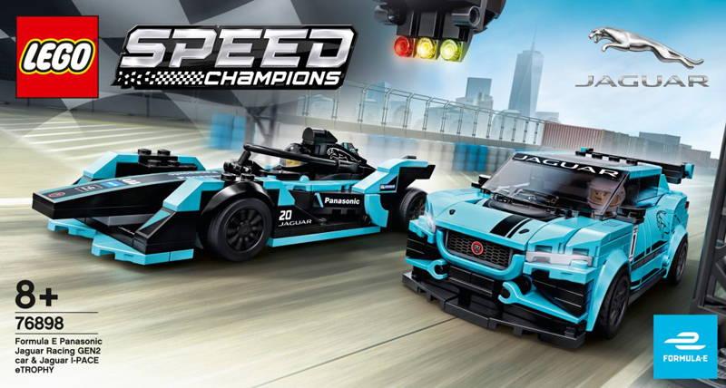 LEGO Formula E Panasonic Jaguar Racing GEN2 Car & Jaguar