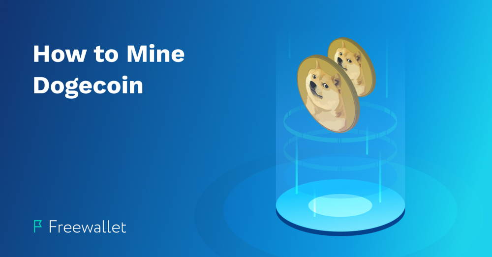 Two Dogecoin Logos - How To Mine DOGE cover