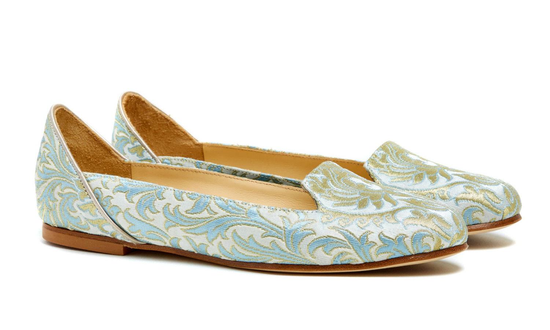 Bote A Mano Light Blue Ballet Flats Shoes