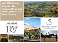 Visit Middleburg VA - The Nation's Horse & Hunt Capital - DC's Wine Country