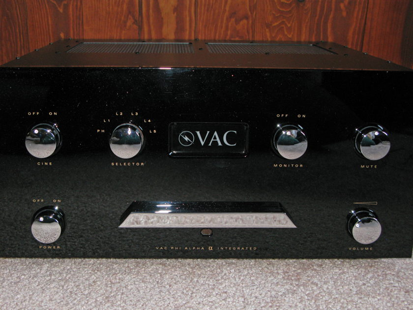 VAC ALPHA Integrated Amplifier with full backup tube set