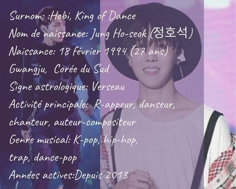 Biographie J Hope