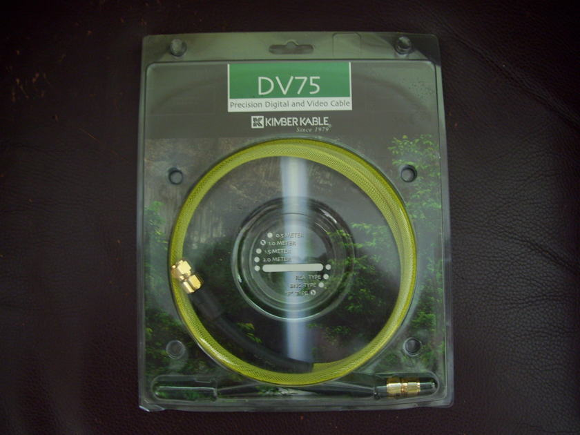 "Kimber DV75 Digital/Video cable w/""F"" type connector"