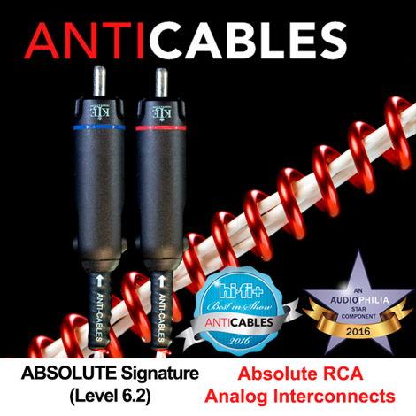 "ANTICABLES Level 6.2 ""ABSOLUTE Signature"" Analog RCA Interconnects"