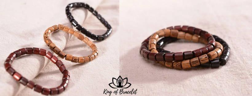 Bracelets en Bois Wengé - Santal et Ébène - King of Bracelet