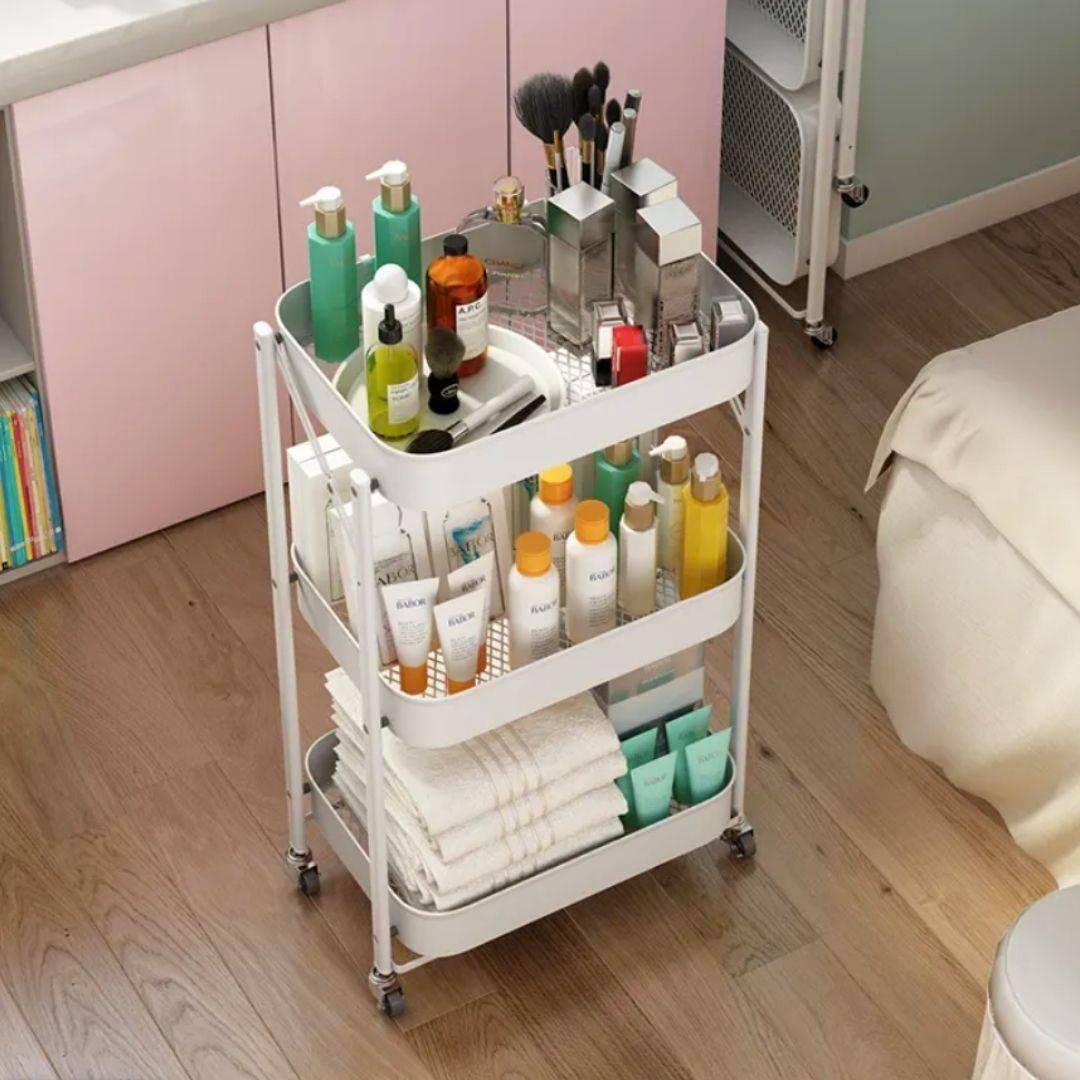 bathroom accessories, bathroom trolley, sink organizer