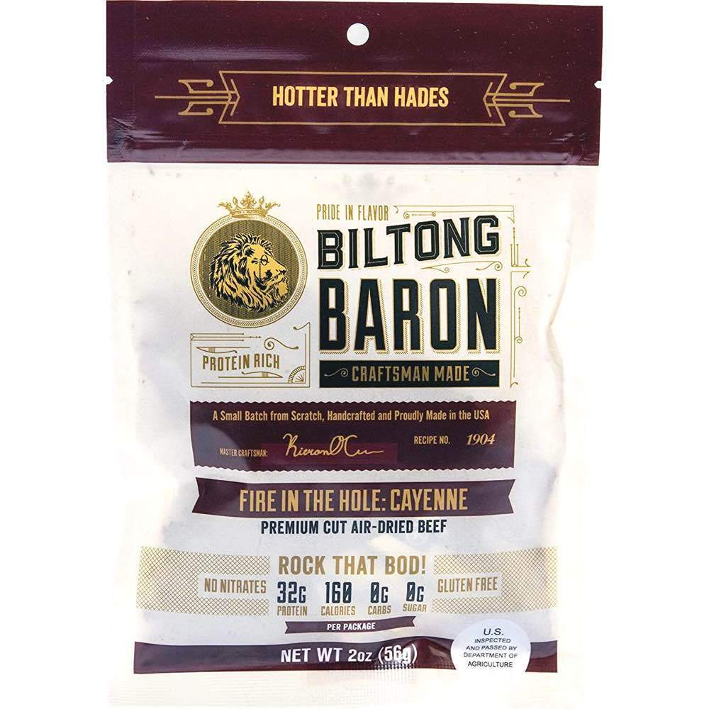 Biltong Baron Fire In The Hole Cayenne Beef Biltong