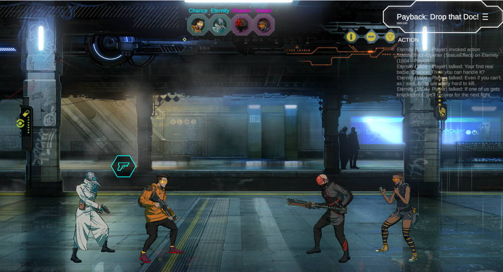 Neon District early gameplay screenshot