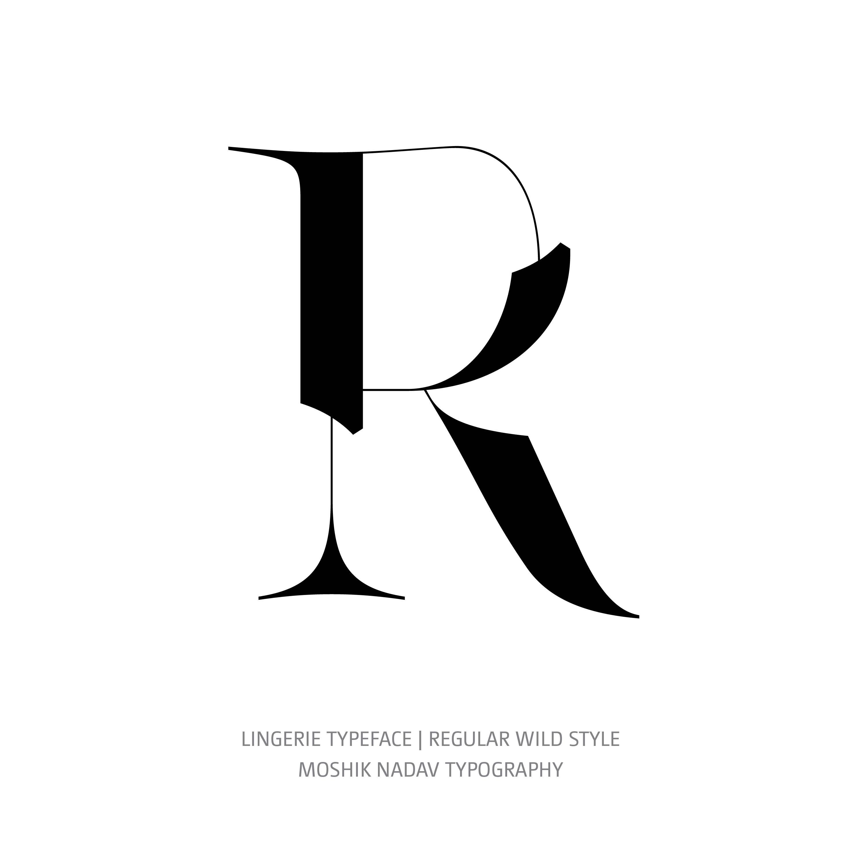 Lingerie Typeface Regular Wild R