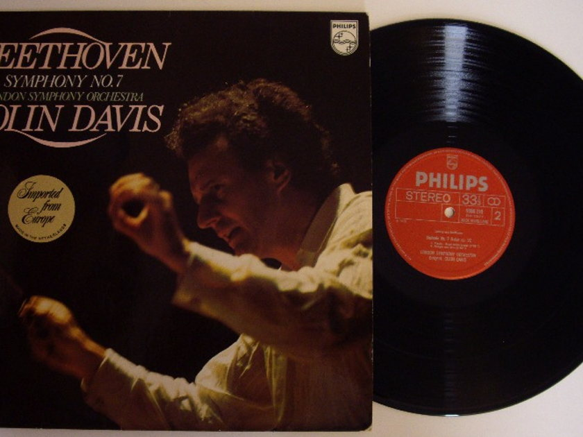 Beethoven/Colin Davis & LSO - Symphony #7 Philips Holland LP Near Mint-