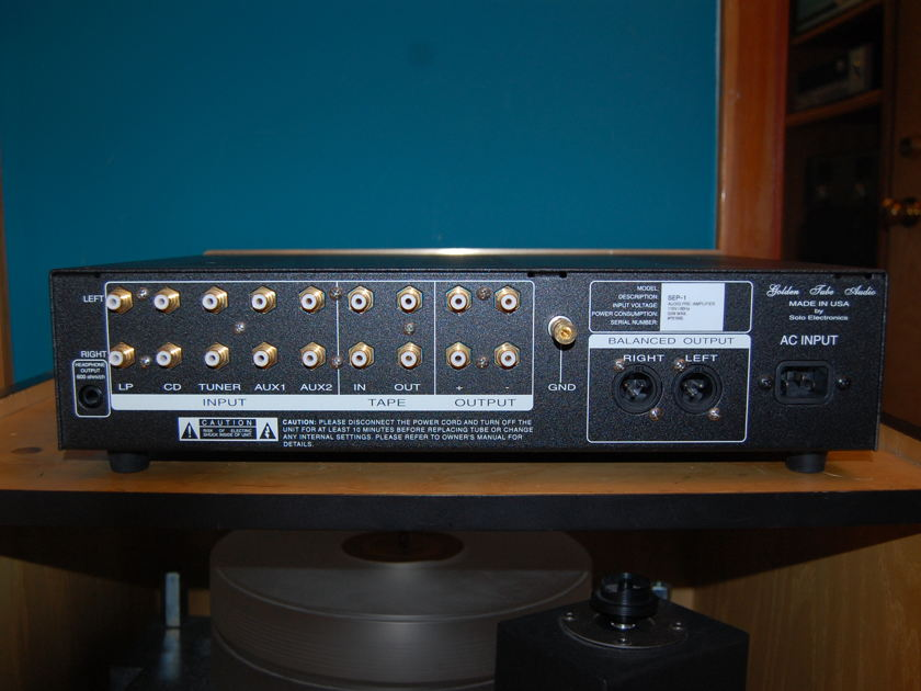 Golden Tube Audio SEP-1 with Optional Phono Built in