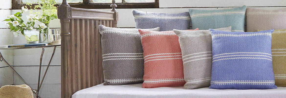 striped cushion collection