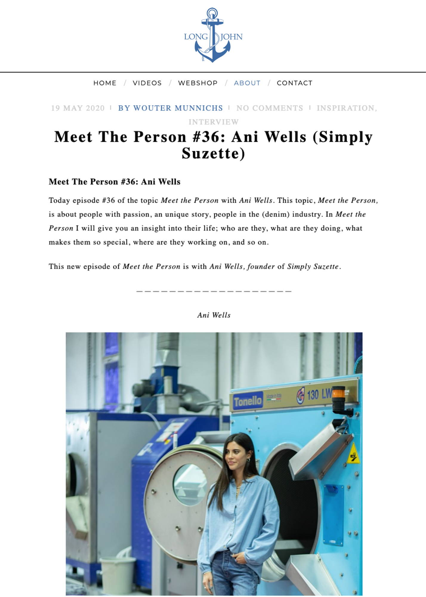 Meet The Person #36: Ani Wells (Simply Suzette) Article